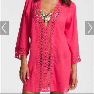La Blanca Pink swim cover up!